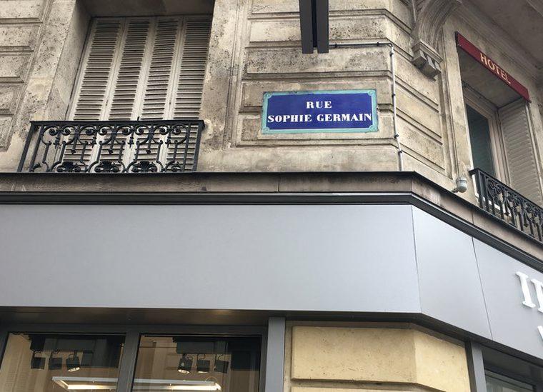 ... estarás caminado por la calle Sophie Germain (Foto: Raphael Lorin).