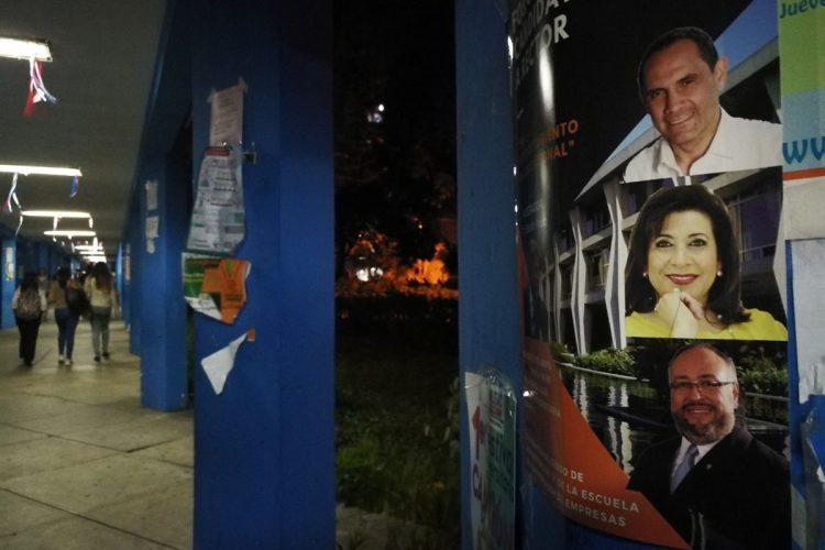 Propaganda de Hada Alvarado, Murphy Paiz y de Carlos Sierra, candidatos a rector