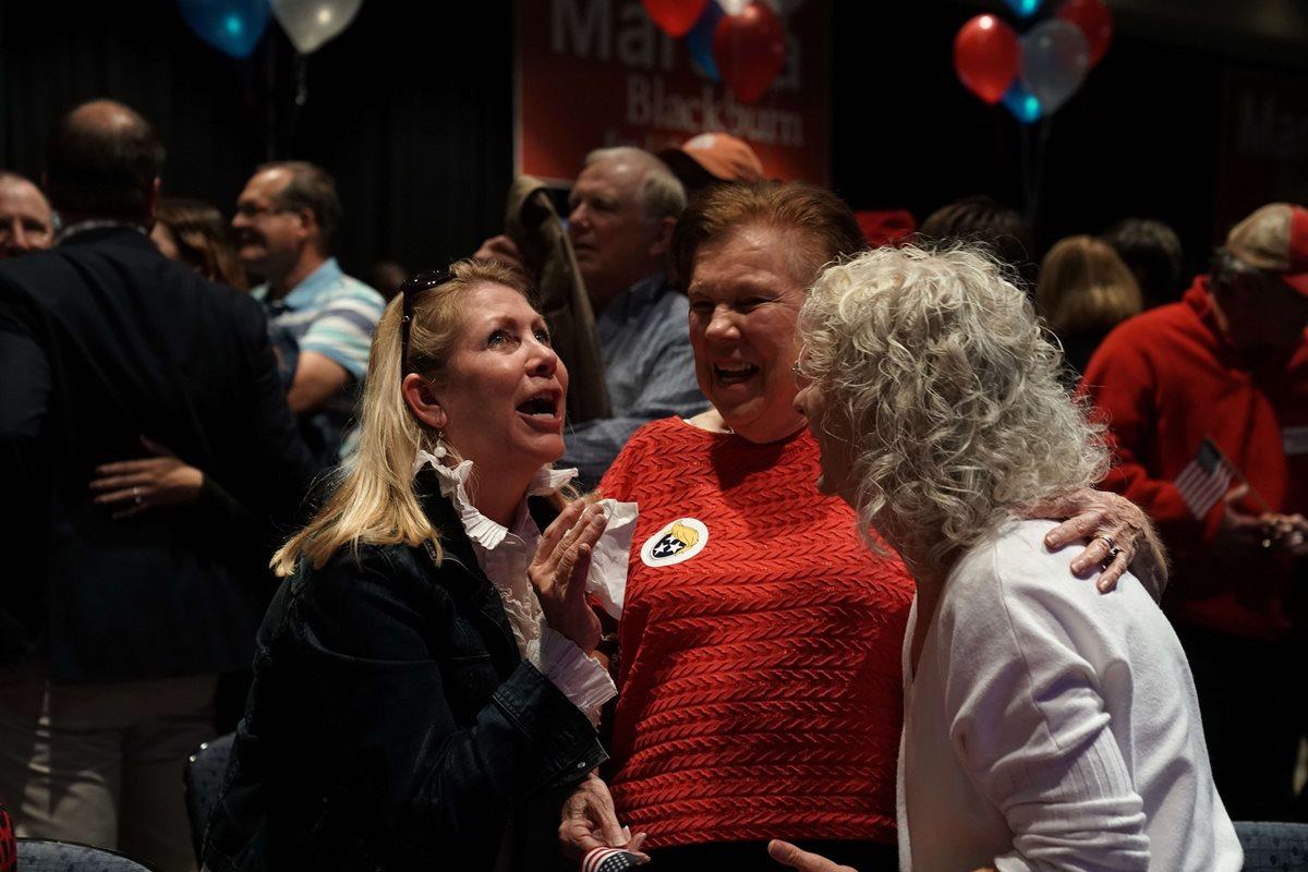 Reacción de los primeros resultados en Tennessee.