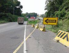 La ampliación a cuatro carriles de la ruta CA-2 Occidente se inició en Cocales y debía concluir en Tecún Umán, un total de 140 km. (Foto Prensa Libre: Melvin Popá)