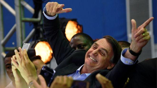 Unas tres mil personas asistieron al acto de lanzamiento de la candidatura de Jair Bolsonaro. GETTY IMAGES