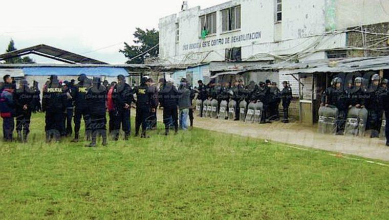 Granja Penal Cantel, en Quetzaltenango, donde estalló la granada. (Foto Prensa Libre: @stereo100xela)