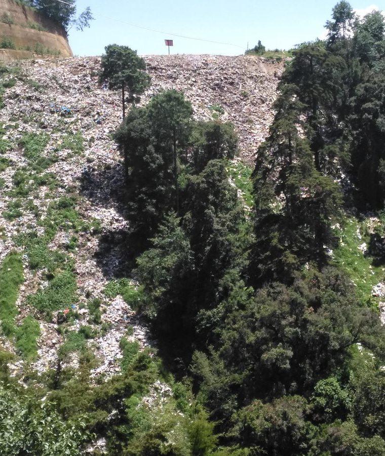 Este año se han localizado varios basureros clandestinos en los alrededores del lago.(Prensa Libre:Ángel Julajuj)