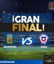 Argentina y Chile reeditan la final de la Copa América 2015. (Foto Prensa Libre: TodoDeportes)