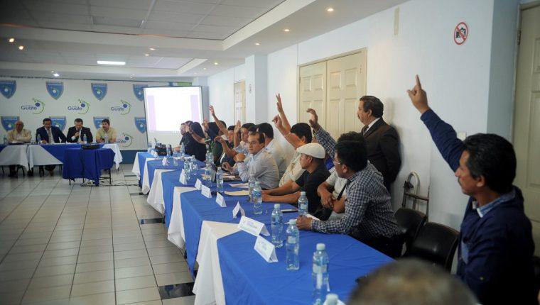 La Asamblea del Futbol, de manera unánime, decidió establecer un Comité Interino en la Fedefut, que aún no tiene el reconocimiento de la Fifa (Foto Prensa Libre: Edwin Fajardo)