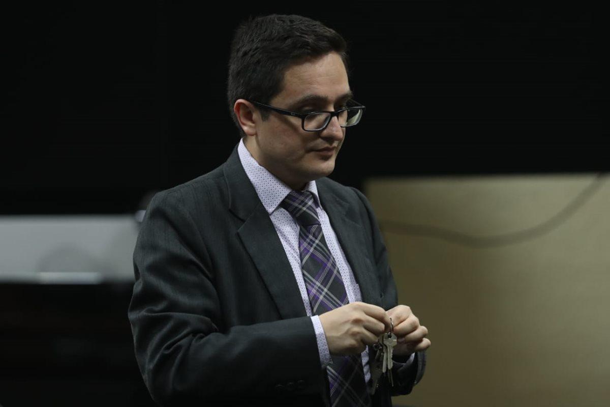 Juan Francisco Sandoval, jefe de la Fiscalía Especial Contra la Impunidad, FECI, estuvo presente en la sentencia.