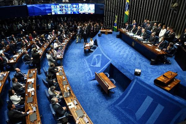 Resultado del voto del Senado sobre la suspensión de Dilma Rousseff. (AFP).