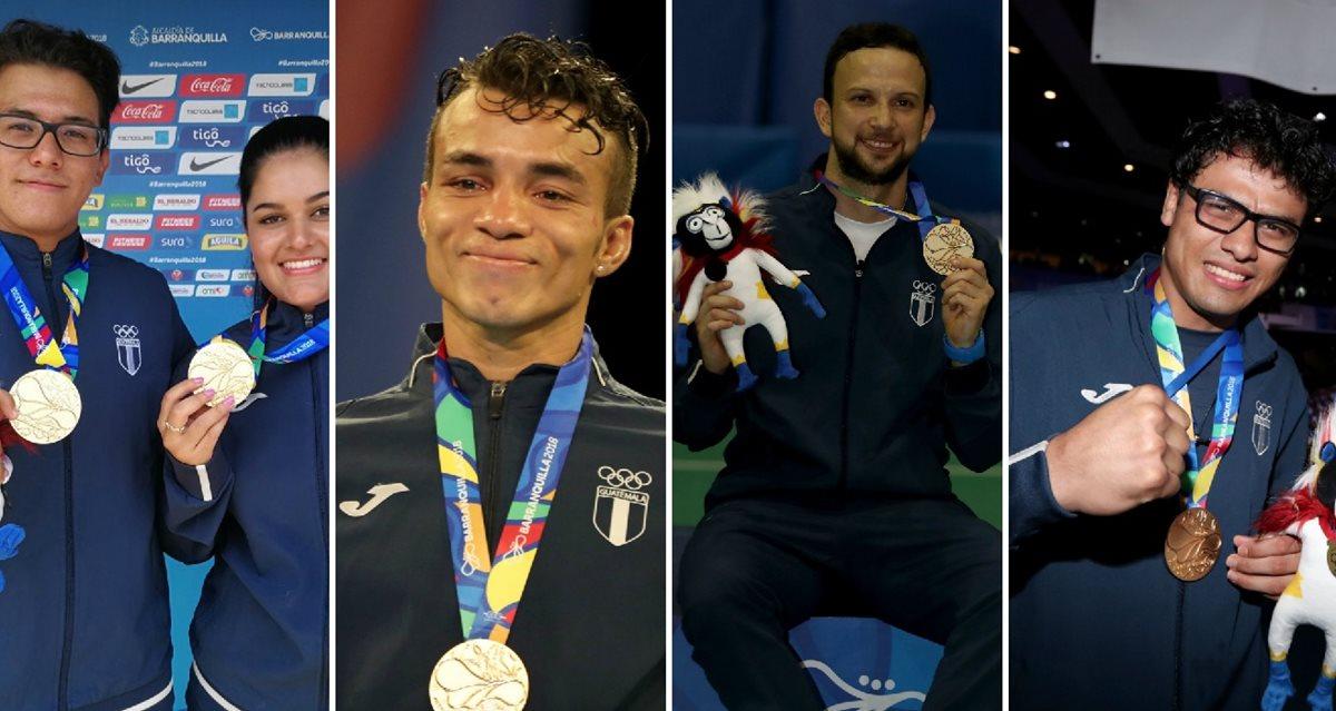 Ellos son los medallistas de oro para Guatemala en Barranquilla 2018