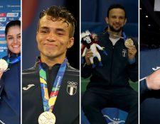 Charles Fernández, Luis Carlos Martínez, Jorge Vega y Jean Pierre Brol, son algunos de los atletas nacionales que han ganado oro. (Foto Prensa Libre: Cortesía COG)