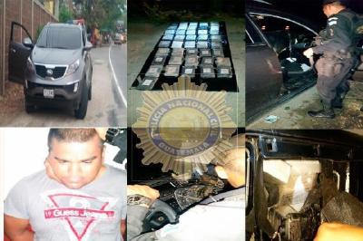 Policía decomisa cocaína en Zacapa
