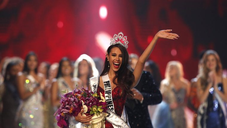 Catriona Gray, de Filipinas, fue elegida como la nueva Mis Universo (Foto Prensa Libre: EFE).