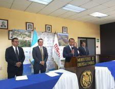 Luis Chang, ministro de Energía y Mina se pronuncia por proceso de consulta que deberán realizar por fallo de la CC en caso de Mina San Rafael. (Foto Prensa Libre: Rosa María Bolaños)