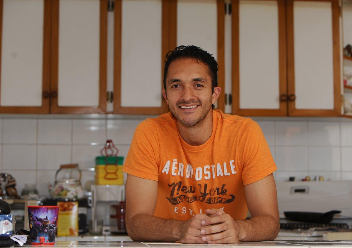 Ricardo Jerez Hidalgo luce feliz en su más reciente visita a Guatemala. (Foto Prensa Libre: Francisco Sánchez).