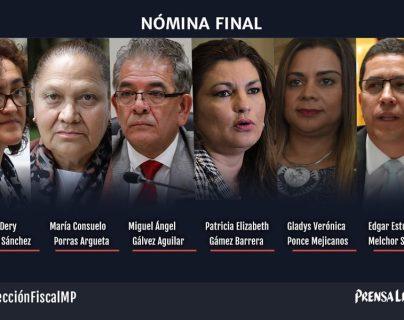 Nómina de seis candidatos para fiscal General queda integrada