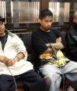 Miguel García, Lester Ortiz y Wilson Rosales, tres de los cuatro pandilleros condenados. Foto Prensa Libre: Hemeroteca PL.