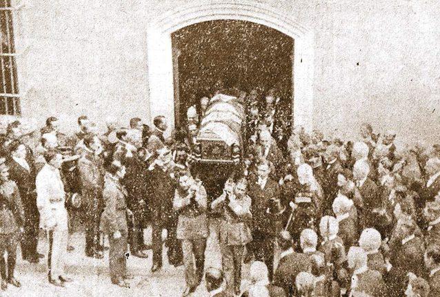 Funeral del presidente José María Orellana en 1926 publicada por el Diario de Guatemala. (Foto: Hemeroteca PL)