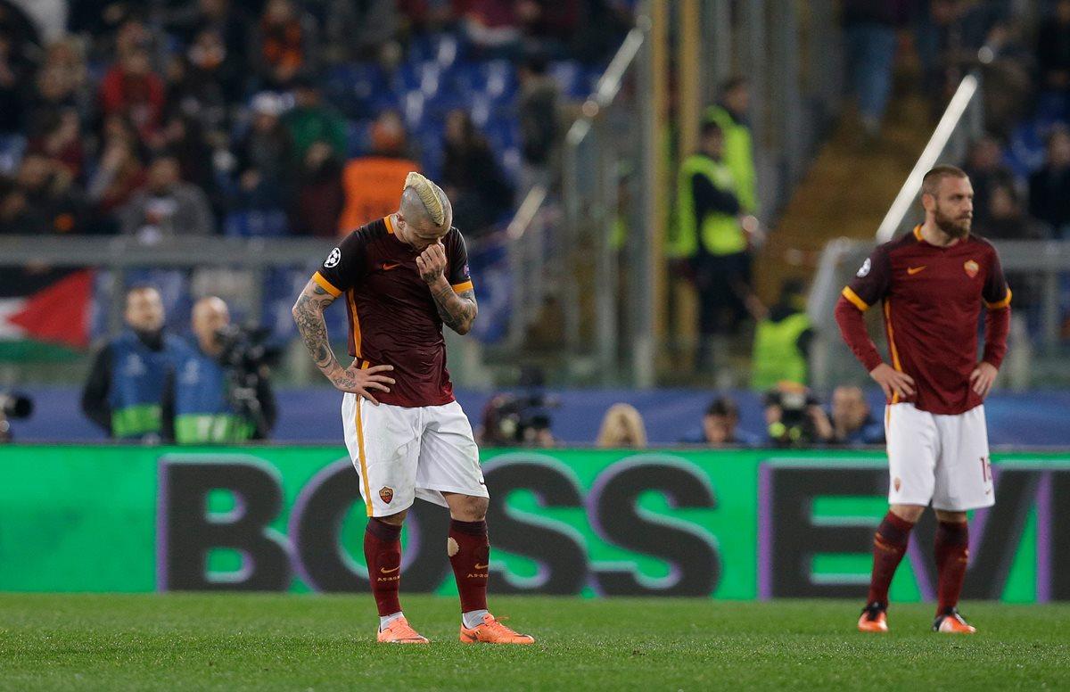Daniele De Rossi no podrá jugar en el duelo de vuelta frente al Real Madrid. (Foto Prensa Libre: AFP)