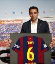Xavi nunca pudo festejar ser el ganador del Balón de Oro. (Foto Prensa Libre: Hemeroteca PL)