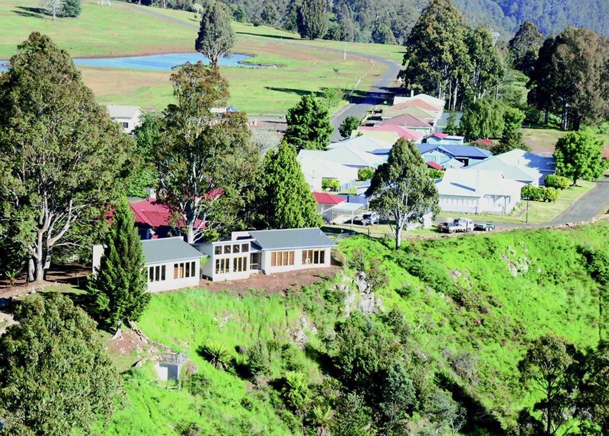Vista aérea del poblado de Terraleah en el corazón de Tasmania. (Foto Prensa Libre: AFP).