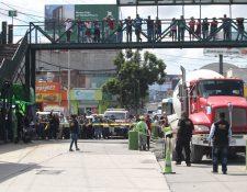 El ataque ocurrió cerca del mercado La Parroquia, en la calle Martí de la zona 6 capitalina. (Foto Prensa Libre: Érick Ávila)