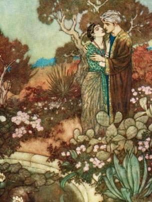 Edmund Dulac fue uno de numerosos artistas que ilustró ediciones del Rubaiyat. ALAMY
