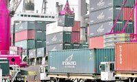 Area portuaria de carga y descarga de contenedores del puerto Quetzal, Escuintla. Foto OSCAR ESTRADA