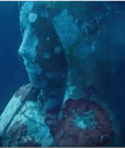 Estatua de la Virgen María en arrecife de Filipinas. BBC