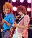 El cantante Robert Plant y el guitarrista Jimmy Page ganaron la batalla legal. (Foto Prensa Libre: AP)