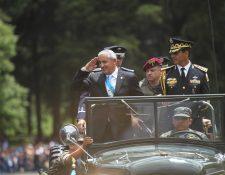 Pérez Molina es el primer militar electo popularmente en la nueva era democrática de Guatemala. (Foto Prensa Libre: Hemeroteca PL)