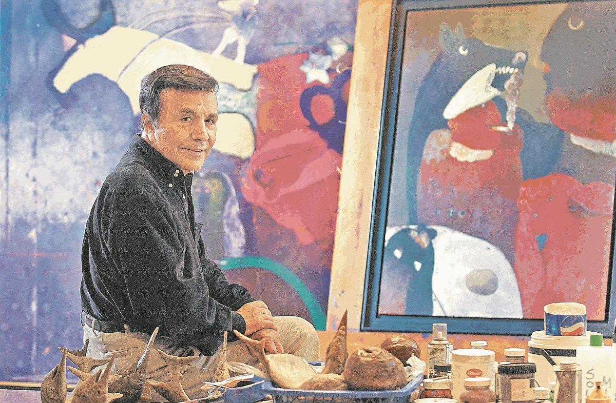 El artista plástico Elmar René Rojas falleció el 18 de febrero de 2018. (Foto Prensa Libre: Hemeroteca PL)