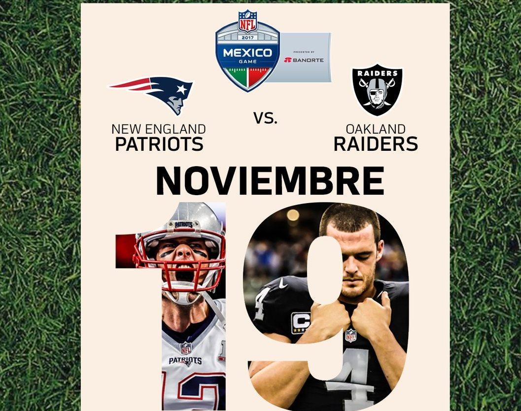 El partido de NFL en México ya tiene fecha y horario confirmados