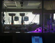 Los siameses Pedro y Augusto se encuentran en el área de alto riesgo 1, de Neonatología del Hospital Roosevelt. (Foto Prensa Libre: Ana Lucía Ola)