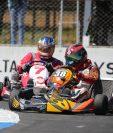 José Luis Armengol debutó en la categoría 125 c.c. con un doble triunfo en la primera fecha del Campeonato Nacional de Kartismo. (Foto Prensa Libre: Gabriel López)