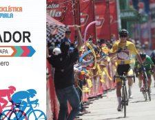 Alonso Gamero se volvió a vestir de gloria al ganar la segunda etapa de la 58 Vuelta a Guatemala. (Foto Prensa Libre: Norvin Mendoza)