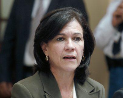 Ministra de Educación resultó ilesa del robo en la zona 1. (Foto Prensa Libre: Hemeroteca PL)