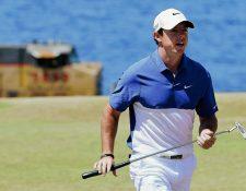 Rory McIlroy se encuentra en rehabilitación y espera estar listo para regresar cuanto antes al deporte de sus amores. (Foto Prensa Libre: AP)