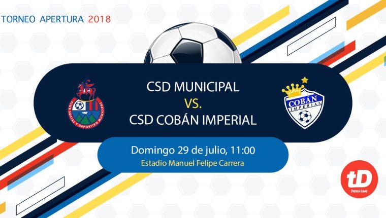 Municipal y Cobán inauguran su participación en el Apertura 2018 este mediodía en el Manuel Felipe Carrera. (Foto Prensa Libre: TodoDeportes)