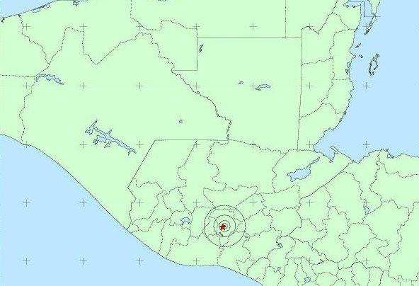 Un temblor de magnitud 3.9 fue sensible en la capital a las 12.21 horas de este lunes. (Foto Prensa Libre: Insivumeh)