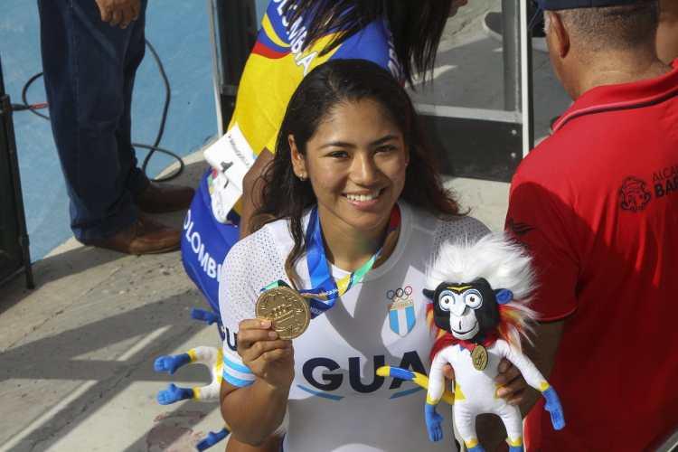 Dalia Soberanis pone en alto el nombre de Guatemala en Barranquilla 2018. (Foto Prensa Libre: Cortesía ACD)