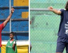 Los mexicanos Carlos Kamiani Félix (Municipal) y Agustín Herrera (Antigua GFC) destacaron durante el torneo Apertura 2016. (Foto Prensa Libre).
