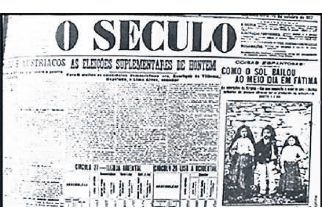 1917: el <em>milagro del sol </em>tiene lugar en Fátima