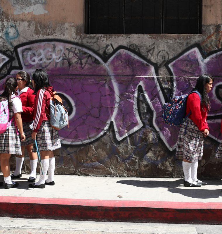 Autoridades de educación aseguran que fomentan la prevención de la violencia en los establecimientos.(Prensa Libre: Carlos Hernández)