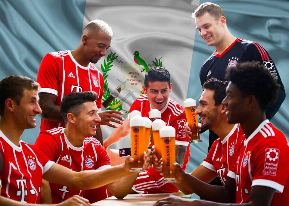 El Bayern Múnich se une a deportistas nacionales para felicitar a Guatemala en el día de la independencia