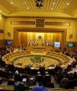 Reunión extraordinaria de los titulares de Exteriores de la Liga Árabe en su sede de El Cairo (Egipto) el pasado 17 de mayo del 2018. (Foto Prensa Libre: EFE)