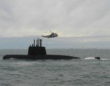 Continúan las labores de búsqueda del submarino argentino con 44 tripulantes incomunicado desde hace 48 horas. (Foto Prensa Libre: EFE)