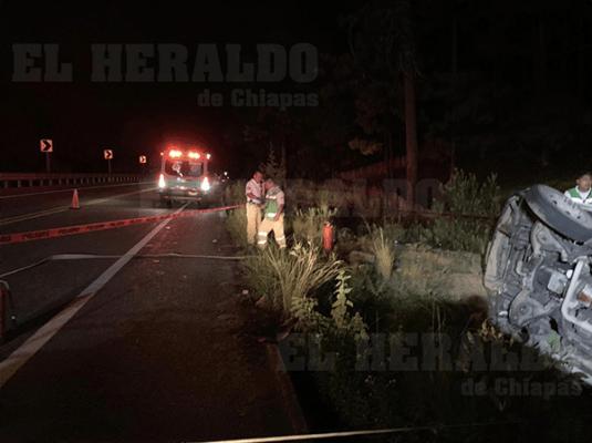 El percance ocurrió en la carretera Teopisca, San Cristóbal de las Casas. (Foto: Alerta Chiapas)