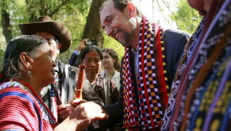 Alto Comisionado de Naciones Unidas para los Derechos Humanos en su visita a Guatemala. (Foto Prensa Libre: Oacnudh)