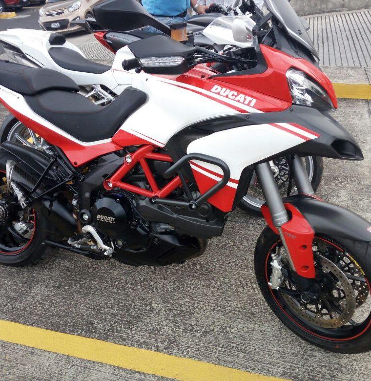 Ésta es otra de las motocicletas relacionadas a Juan Carlos Monzón, quien fue secretaria privado de  la exvicepresidenta Roxana Baldetti, que tiene medidas cautelares y se busca extinguir. (Foto, Prensa Libre: MP)