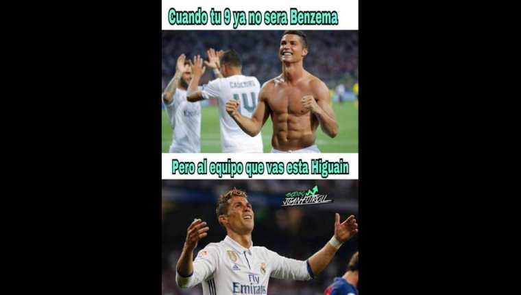 Los memes sobre la posible salida de Cristiano Ronaldo del Madrid no se hicieron esperar. (Foto Prensa libre: Twitter)