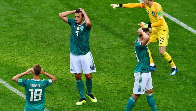 Alemania queda eliminada de la Copa del Mundo al caer contra Corea del Sur. (Foto Prensa Libre: AFP)